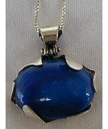 Blue agate pendant - $68.00