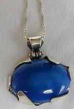 Blue agate pendant b thumb200