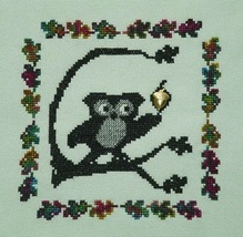 Ooolee Catches An Acorn with Charm cross stitch chart Handblessings - $6.50