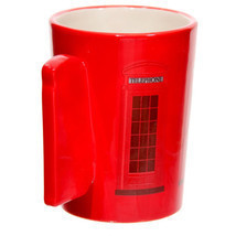 Ted Smith Red Telephone Box Handle Ceramic Mug - £8.86 GBP