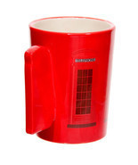 Ted Smith Red Telephone Box Handle Ceramic Mug - $12.35