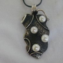 Silver pearls pendant - $35.00