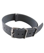 Nylon Watch band (18mm) in Charcoal - $13.00