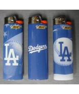 LOS ANGELES DODGERS CLASSIC LA TEAM LOGO MLB BIC CIGARETTE LIGHTERS SET ... - $5.83