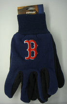 Boston Red Sox Utility Gloves Mlb Baseball Blue And Red - $5.83