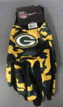 Green Bay Packers Camouflage Utility Gloves Nfl Adult One Size Fits Most - $5.45