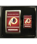 WASHINGTON REDSKINS CLASSIC LOGO CIGARETTE CASE / WALLET AND LIGHTER GIF... - $10.73
