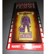 THE BIG LEBOWSKI NOBODY WITH JESUS LOGO 2D FUNKY CHUNKY WOOD FRIDGE MAGN... - $6.81