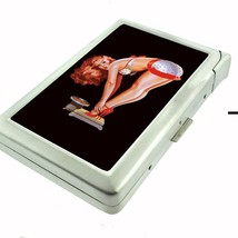 Cigarette Case with Built In Lighter Pin Up Girl Design-004 - $9.85