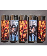 KISS CLASSIC GROUP PICTURE & PHOTO LIGHTER SET OF 5 NEW - $3.88