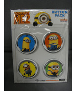 DESPICABLE ME 2 MINIONS BUTTON PACK / SET OF 4 STYLE - B - $5.83