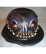 SCARY DEMON MONSTER DERBY 3D EFFECT HAT HALLOWEEN COSTUME ACCESSORY BLAC... - $3.10