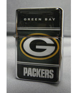 GREEN BAY PACKERS CLASSIC LOGO REFILLABLE SILVER NFL OIL LIGHTER - $12.82