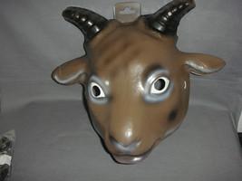 Billy Goat Animal Halloween Mask Pvc New - $7.79