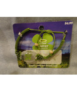 CLOVER COLLECTION FOUR LEAF CLOVER BRACELET ADJUSTABLE WITH GREEN ACCENT - $2.31