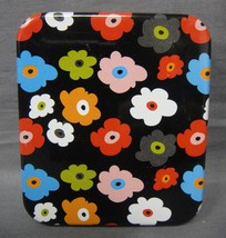 COLORED FLOWERS ABSTRACT DESIGN FASHION PILL BOX / PILL CASE WITH DEFECTS - $79,35 MXN