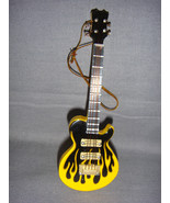 "LES PAUL YELLOW FLAME ELECTRIC GUITAR INSTRUMENT ORNAMENT 4"" - $9.75"