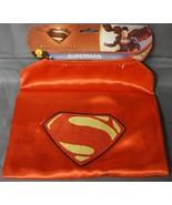 DC COMICS SUPERMAN MAN OF STEEL CAPE HALLOWEEN COSTUME KIDS ONE SIZE FIT... - $10.15