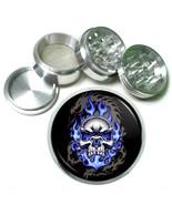 """63mm 2.5"""" 4 Pc Aluminum Sifter Magnetic Herb Grinder Skull Design-015 - $9.75"""