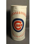 CHICAGO CUBS I LIVE FOR THIS BASEBALL THEME 12oz MLB BEER BOTTLE KOOZIE ... - $3.88