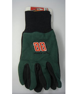 DALE EARNHARDT JR. #88 UTILITY GLOVES NASCAR GREEN AND RED - $5.83