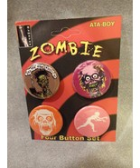 ZOMBIES BUTTON PACK / SET OF 4 HALLOWEEN - $4.66