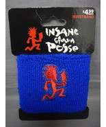 INSANE CLOWN POSSE ICP LOGO BLUE WRISTBAND WITH RED HATCHET MAN - $3.88