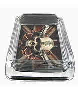 Glass Square Ashtray Skull Design-002 - $6.23