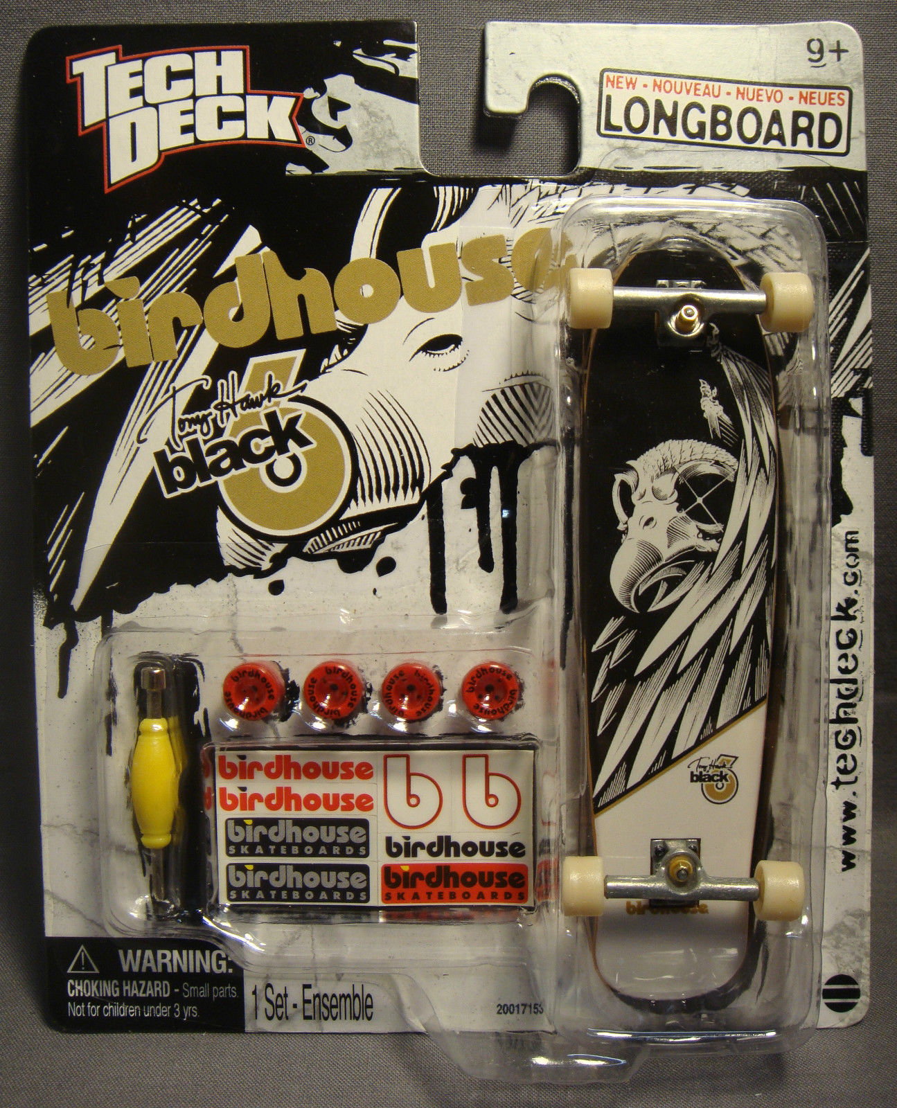 TECH DECK 120MM TONY HAWK BIRDHOUSE BLACK B LONGBOARD SKATEBOARD FINGERBOARD 9+