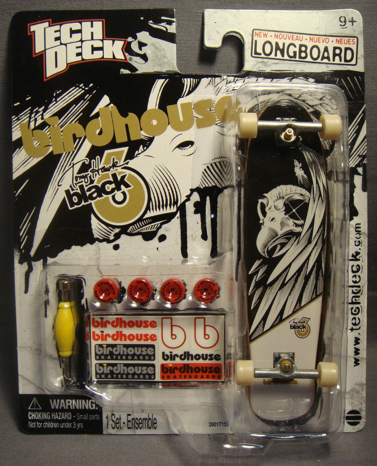 TECH DECK 120MM TONY HAWK BIRDHOUSE BLACK B LONGBOARD SKATEBOARD FINGERBOARD 9+