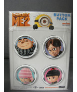 DESPICABLE ME 2 FACES BUTTON PACK / SET OF 4 STYLE - A - $5.83