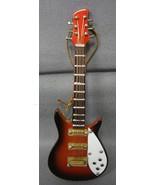 "BROWN 4"" RICKENBACKER BASS GUITAR TYPE HOLIDAY ORNAMENT - $7.80"