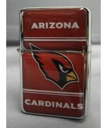 ARIZONA CARDINALS CLASSIC LOGO REFILLABLE SILVER NFL OIL LIGHTER - $9.84