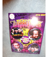 THE THREE STOOGES BUTTON PACK / SET OF 4 CLASSIC - $4.66