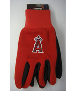 ANAHEIM CALIFORNIA ANGELS UTILITY GLOVES MLB BASEBALL BLUE AND RED - $3.87