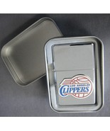 LOS ANGELES CLIPPERS NBA RAISED TEAM LOGO REFILLABLE SILVER OIL LIGHTER ... - $7.79