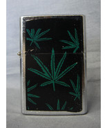 420 ABSTRACT LEAF DESIGN SILVER REFILLABLE OIL CIGARETTE LIGHTER - $3.10