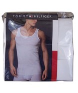 Tommy Hilfiger 3 pack Classic Ribbed Tank Tops Men's Size S 34-36 100% C... - $30.56