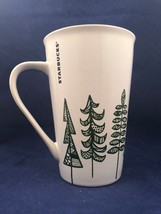 Starbucks Holiday 2015 Green Pine Christmas Trees Tall Coffee Tea Cup Mu... - $24.74