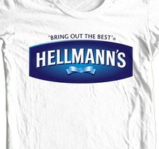 Hellmann's T-shirt retro 1913 vintage 1980's 100% cotton graphic white tee image 1