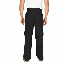 Men's Tactical Military Army Work Twill Black Cargo Pants Trousers - 32W x 32L image 2