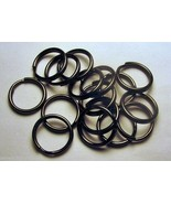 "100 Key Rings 15mm Approx 5/8"" Split Ring Gun Metal Black Finish Steel F... - $10.38"