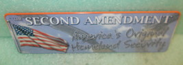 "Rivers Edge ""The Second Amendment / A.O.H.S""  Metal Sign #1410 UPC:64332... - $13.86"
