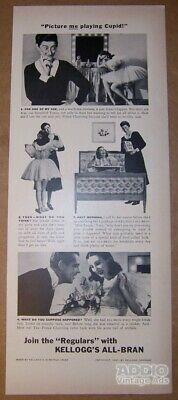 Kellogg's All-Bran Cereal '40s PRINT AD ballerina breakfast clipping vtg 1940