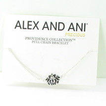 Alex and Ani Providence Lotus Peace Petals Bracelet PC14SPB04S 925 Silver - $57.23