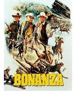 BONANZA TV WESTERN (Brush Stroke) POSTER 24 X 36 INCH - £15.13 GBP