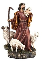 """9586 8"""" Parable of The Lost Sheep Shepard Religious Statue Figurine - $29.99"""