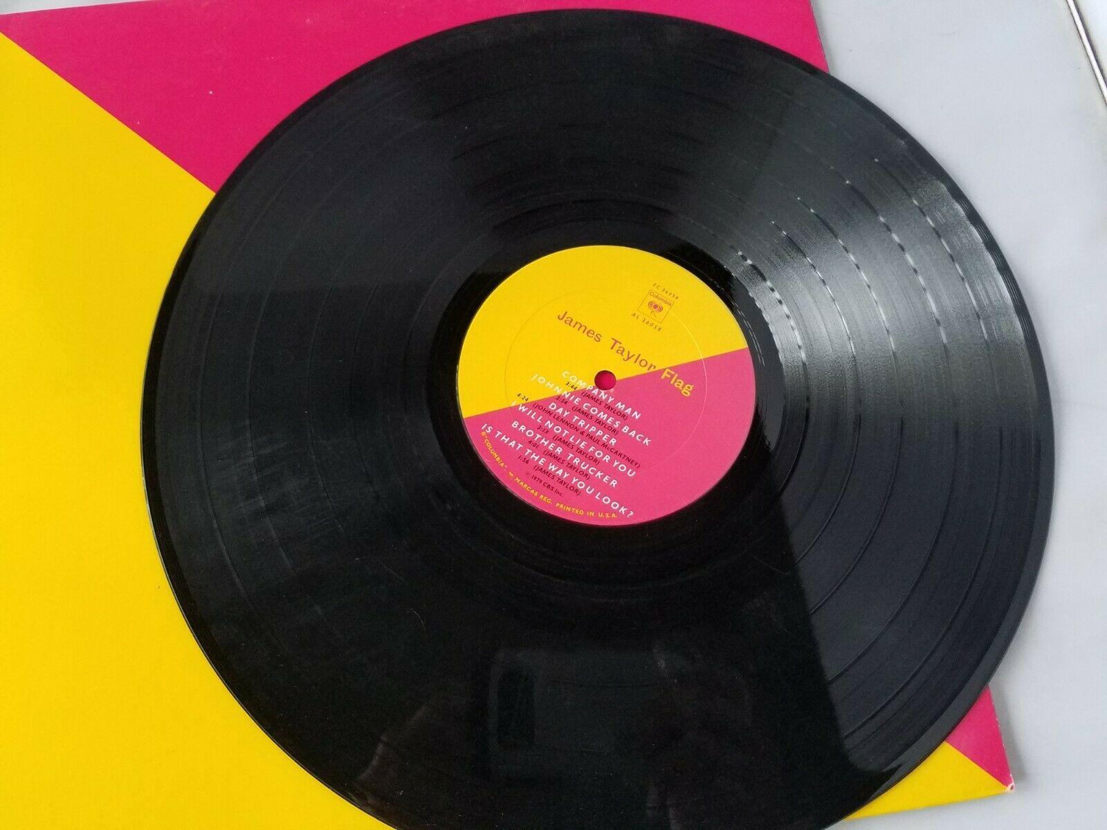 James Taylor Flag Vinyl Record Vintage 1979 Columbia Records CBS