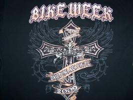 Bike Week 2009 Daytona Beach, Florida Motorcycles Black Graphic T Shirt - L - $17.76