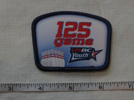 RARE USBC United States Bowling Congress 125 game patch award YOUTH adul... - $19.79